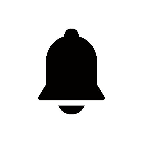 アラーム・ベル シルエットモノクロアイコン素材