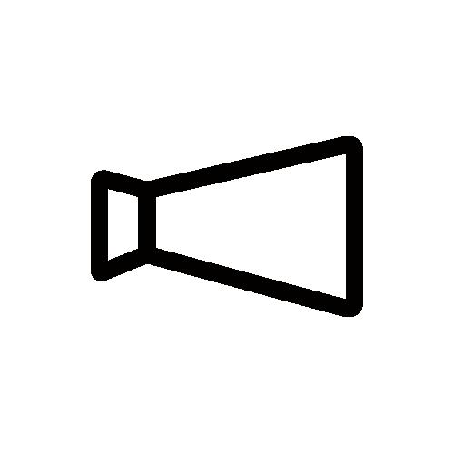 メガホン モノクロアイコン素材