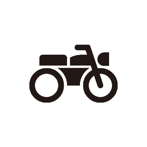 """バイク モノクロアイコン素材"""""""
