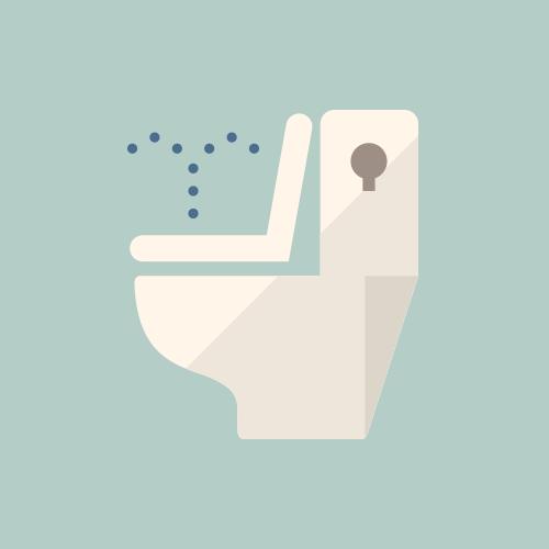 温水洗浄便座トイレ カラーアイコン フリー素材