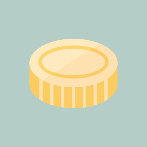 コイン カラーアイコン フリー素材
