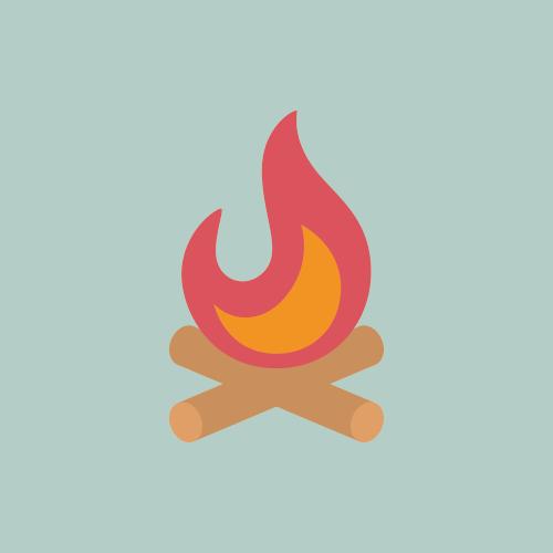 焚き火 カラーアイコン フリー素材