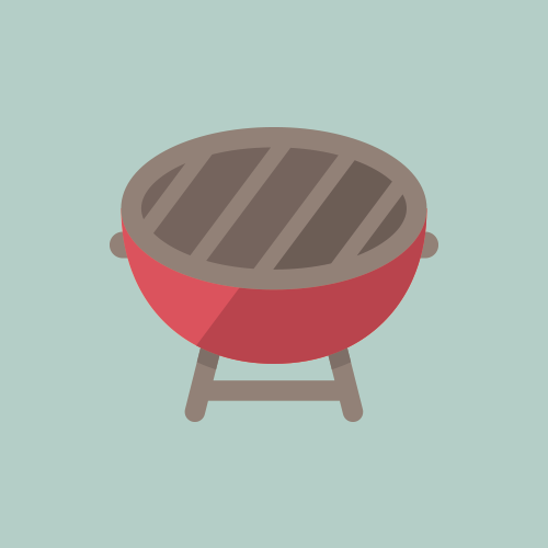 BBQコンロ カラーアイコン フリー素材