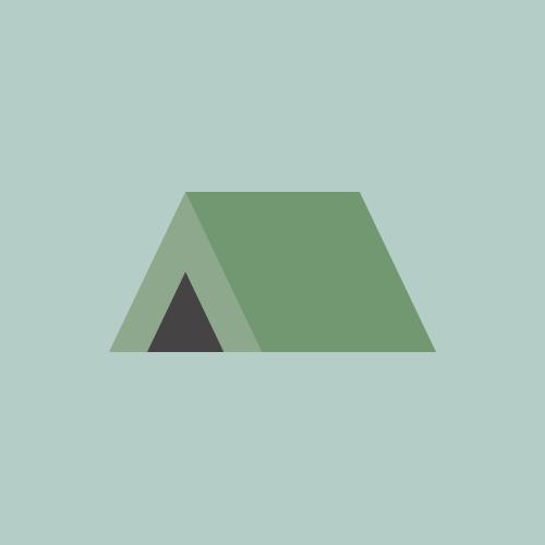 テント カラーアイコン フリー素材
