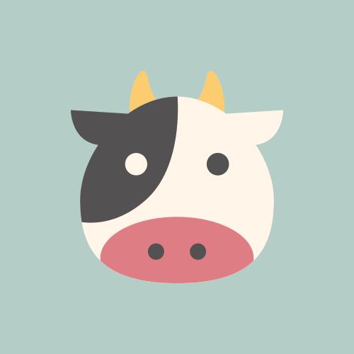 牛 カラーアイコン フリー素材