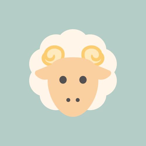 羊 カラーアイコン フリー素材
