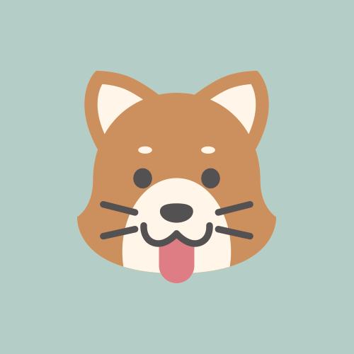 犬 カラーアイコン フリー素材