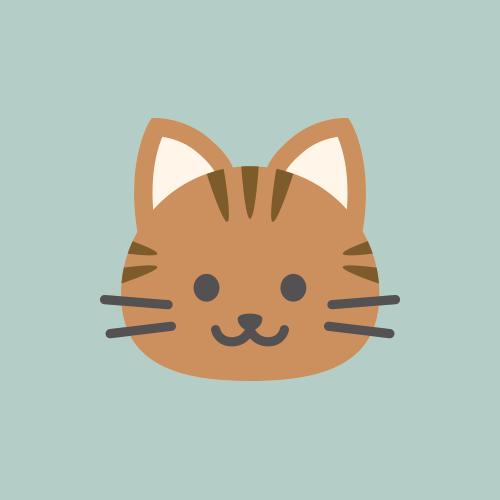 猫 カラーアイコン フリー素材
