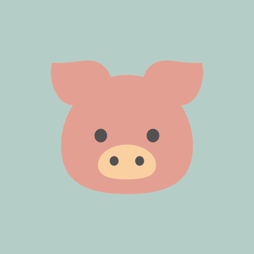 豚 カラーアイコン フリー素材