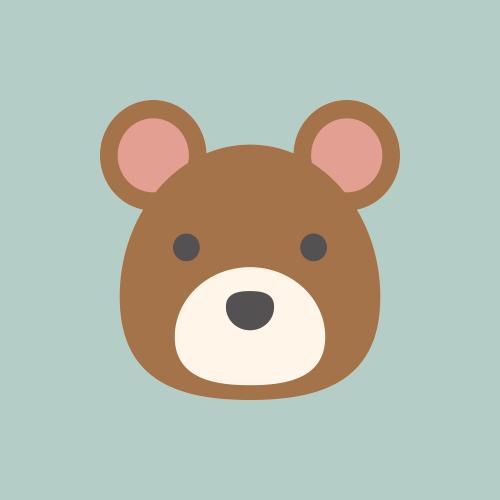 熊 カラーアイコン フリー素材