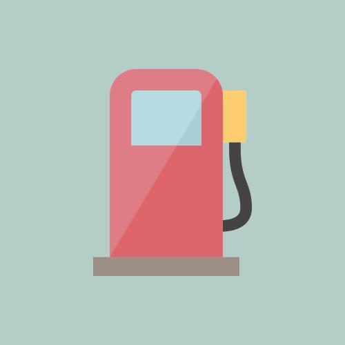 ガソリンスタンド カラーアイコン フリー素材