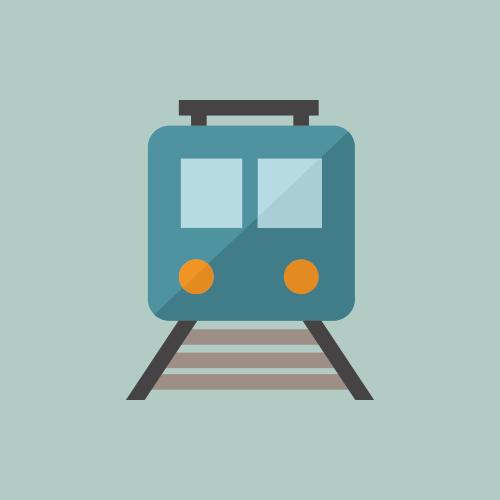 電車・駅 カラーアイコン フリー素材