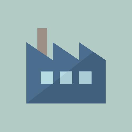 工場 カラーアイコン フリー素材