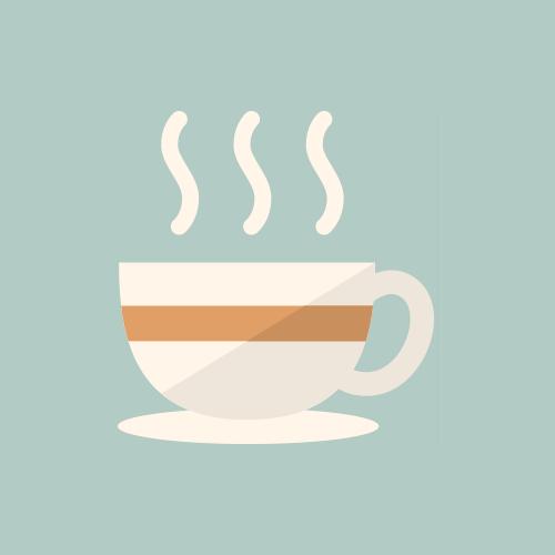 喫茶店・コーヒーカップ カラーアイコン フリー素材