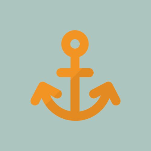 港・錨 カラーアイコン フリー素材