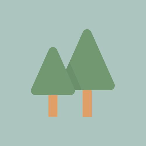 森林 カラーアイコン フリー素材