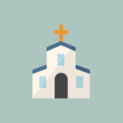 教会 カラーアイコン フリー素材