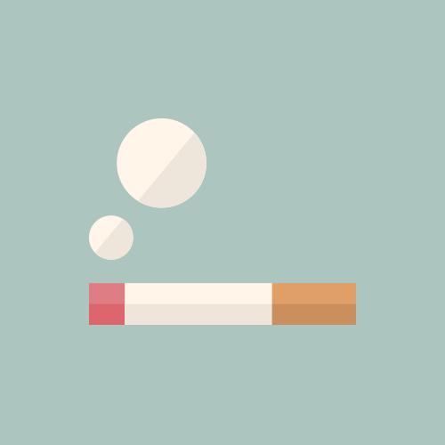 タバコ・喫煙所 カラーアイコン フリー素材