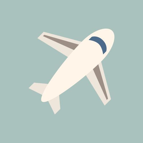 飛行機・空港 カラーアイコン フリー素材