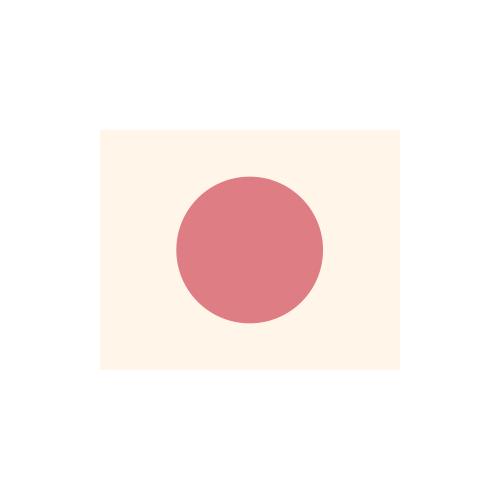 日本国旗 カラーアイコン フリー素材