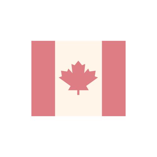 カナダ 国旗 カラーアイコン フリー素材
