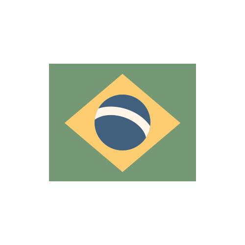 ブラジル 国旗 カラーアイコン フリー素材