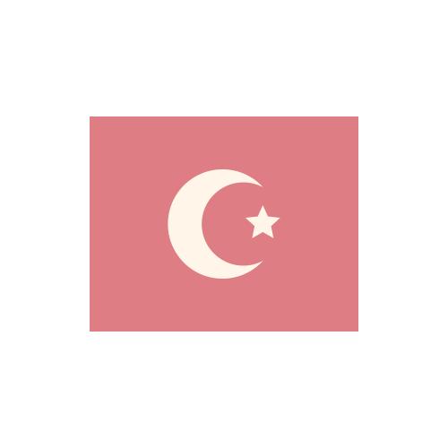 トルコ 国旗 カラーアイコン フリー素材