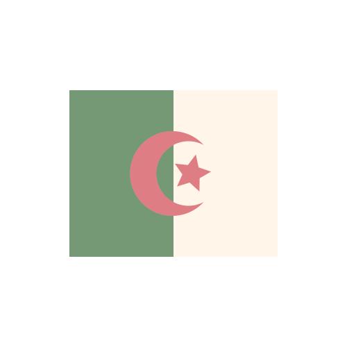 アルジェリア 国旗 カラーアイコン フリー素材
