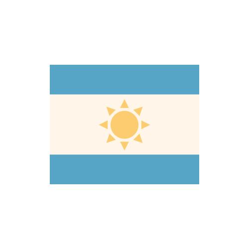 アルゼンチン 国旗 カラーアイコン フリー素材