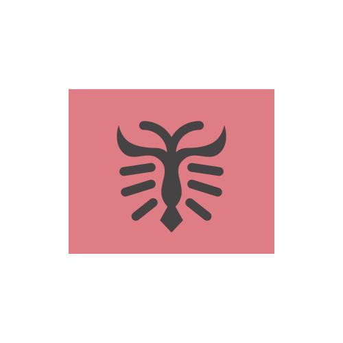 アルバニア 国旗 カラーアイコン フリー素材