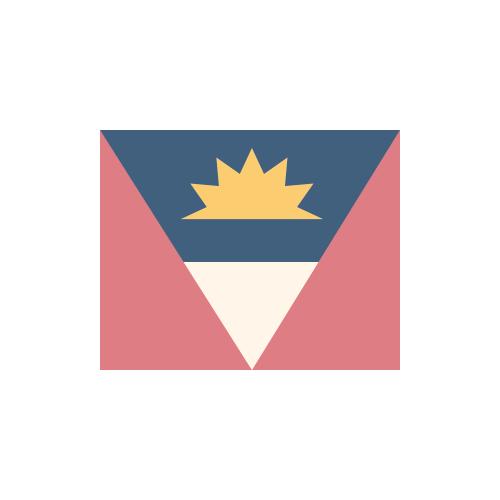 アンティグア・バーブーダ 国旗 カラーアイコン フリー素材