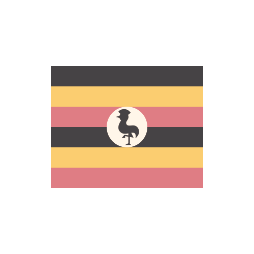 ウガンダ 国旗 カラーアイコン フリー素材