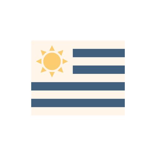 ウルグアイ 国旗 カラーアイコン フリー素材