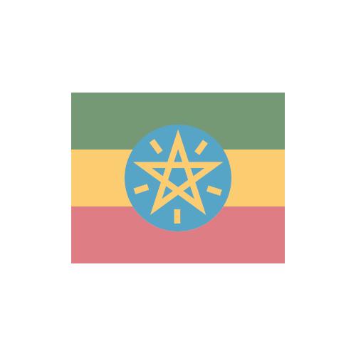 エチオピア 国旗 カラーアイコン フリー素材