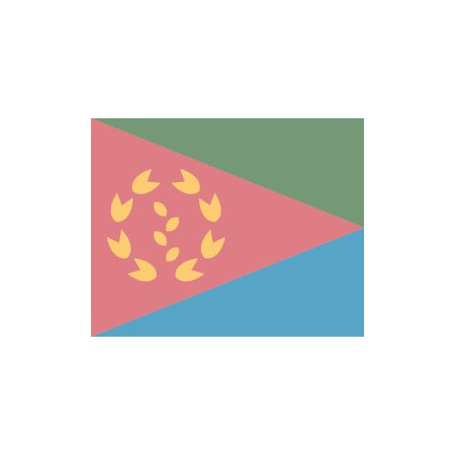 エリトリア 国旗 カラーアイコン フリー素材