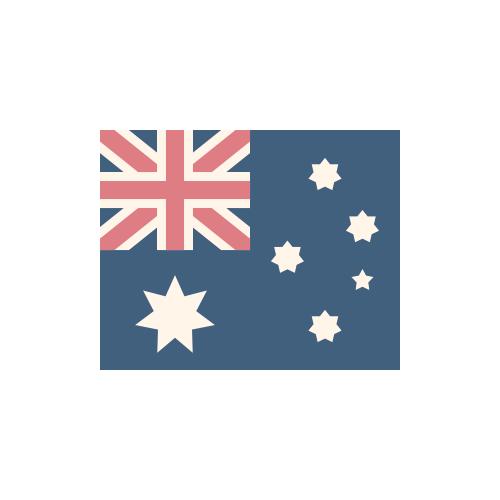 オーストラリア 国旗 カラーアイコン フリー素材