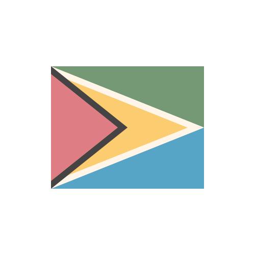ガイアナ 国旗 カラーアイコン フリー素材