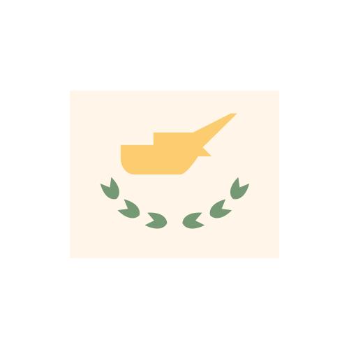 キプロス 国旗 カラーアイコン フリー素材