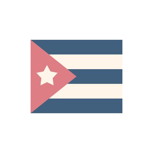 キューバ 国旗 カラーアイコン フリー素材