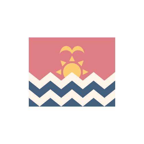 キリバス 国旗 カラーアイコン フリー素材
