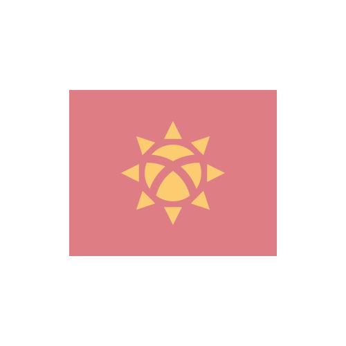キルギス 国旗 カラーアイコン フリー素材