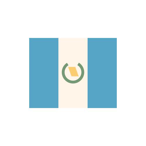 グアテマラ 国旗 カラーアイコン フリー素材