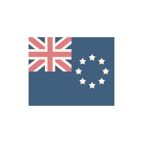 クック諸島 国旗 カラーアイコン フリー素材