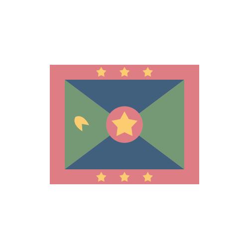 グレナダ 国旗 カラーアイコン フリー素材