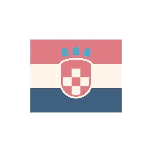 クロアチア 国旗 カラーアイコン フリー素材