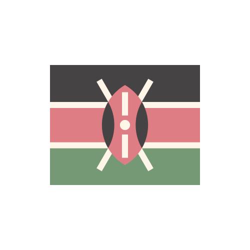 ケニア 国旗 カラーアイコン フリー素材