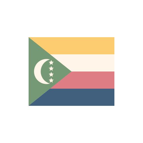 コモロ 国旗 カラーアイコン フリー素材