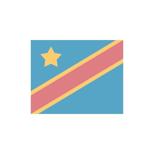 コンゴ民主共和国 国旗 カラーアイコン フリー素材