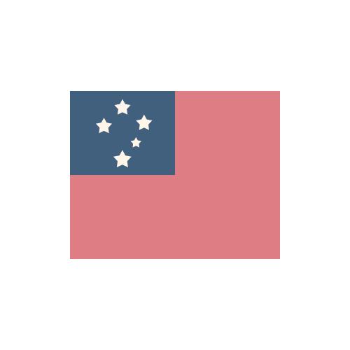 サモア 国旗 カラーアイコン フリー素材
