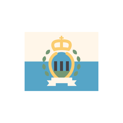 サンマリノ 国旗 カラーアイコン フリー素材